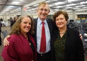 FSU Feb 2015: Julia Zimmerman (right), Katie McCormick (left) with Graham