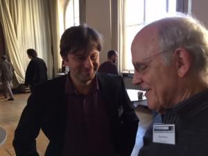 Philosopher Richard Dawid (l) and physicist David Gross.