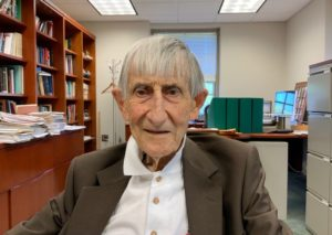 photo of Freeman Dyson in his office, taken on 11 June 2019