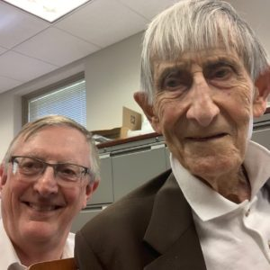 Freeman Dyson and Graham in his Princeton Office August 2017